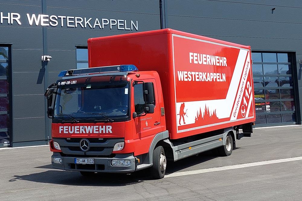 Gerätewagen Logistik (GW-L) der Feuerwehr Westerkappeln
