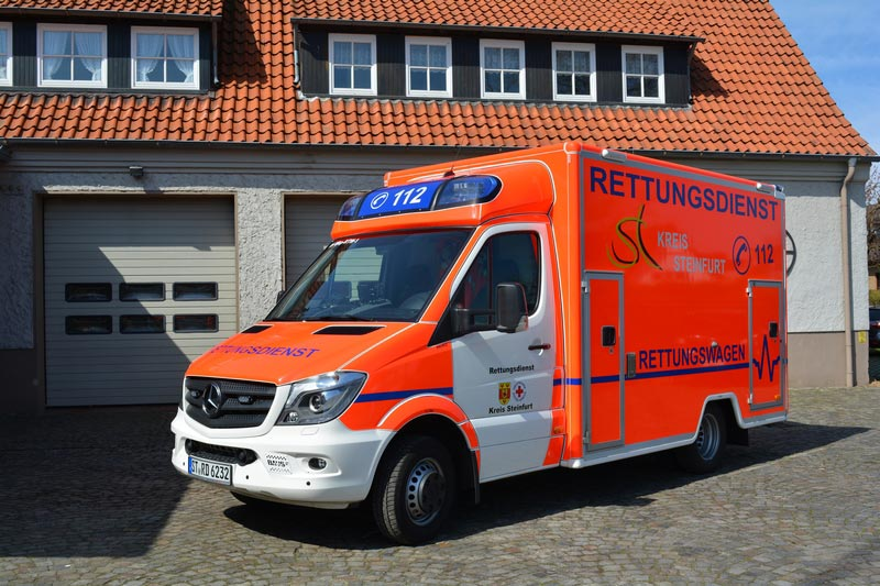 Rettungswagen (RTW) des Kreis Steinfurt betrieben vom DRK