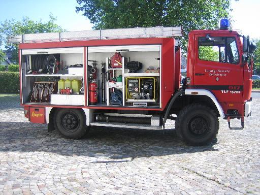 rechte Seite des TLF 2000, ehem. TLF 16/24 Tr., der Feuerwehr Westerkappeln