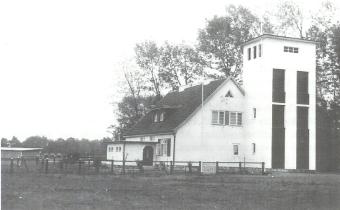 Schlauchtrockenturm und Steigerturm um 1938